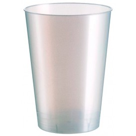 """Plastic Cup PS """"Moon"""" White Pearl 230ml (1000 Units)"""