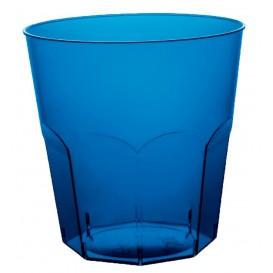 Plastic Cup PS Blue Clear Ø7,3cm 220ml (50 Units)
