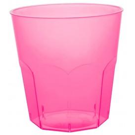 Plastic Cup PS Fuchsia Clear Ø7,3cm 220ml (50 Units)