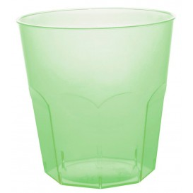Plastic Cup PS Lime Green Clear Ø7,3cm 220ml (50 Units)