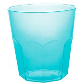Plastic Cup PS Turquoise Clear Ø7,3cm 220ml (1000 Units)
