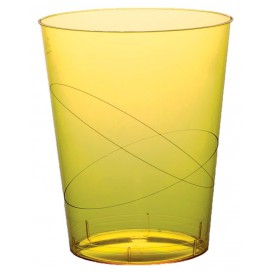 """Plastic Cup PS """"Moon"""" Yellow Clear 350ml (20 Units)"""