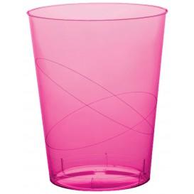 "Plastic Cup PS ""Moon"" Fuchsia Clear 350ml (20 Units)"
