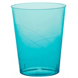 """Plastic Cup PS """"Moon"""" Turquoise Clear 350ml (400 Units)"""