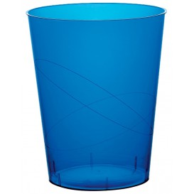 """Plastic Cup PS """"Moon"""" Blue Clear 350ml (20 Units)"""