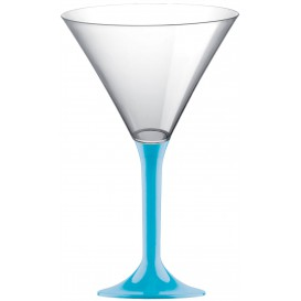 Plastic Stemmed Glass Cocktail Turquoise 185ml 2P (200 Units)