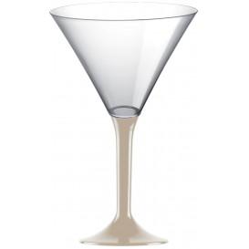 Plastic Stemmed Glass Cocktail Beige 185ml 2P (40 Units)