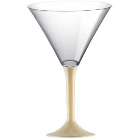 Plastic Stemmed Glass Cocktail Cream 185ml 2P (200 Units)