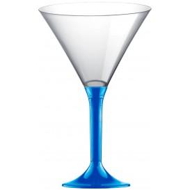 Plastic Stemmed Glass Cocktail Mediterranean Blue 185ml 2P (200 Units)
