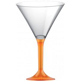 Plastic Stemmed Glass Cocktail Orange Clear 185ml 2P (40 Units)