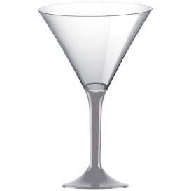 Plastic Stemmed Glass Cocktail Grey 185ml 2P (40 Units)