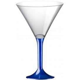 Plastic Stemmed Glass Cocktail Blue Pearl 185ml 2P (200 Units)