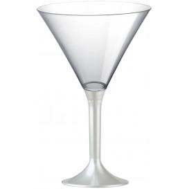 Plastic Stemmed Glass Cocktail White Pearl 185ml 2P (40 Units)