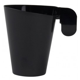 "Plastic Cup ""Design"" Black 155ml (12 Units)"