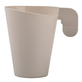 "Plastic Cup ""Design"" Cream 155ml (12 Units)"