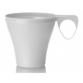 Plastic Cup White 80ml (40 Units)