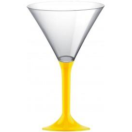 Plastic Stemmed Glass Cocktail Yellow 185ml 2P (40 Units)
