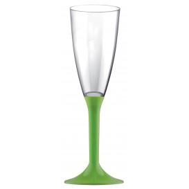 Plastic Stemmed Flute Sparkling Wine Lime Green 120ml 2P (200 Units)