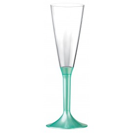 Plastic Stemmed Flute Sparkling Wine Tiffany Pearl 160ml 2P (200 Units)