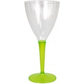 Plastic Stemmed Glass Wine Green 130ml (60 Units)