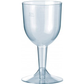 """Plastic Glass Water or Wine """"Premium"""" Removable Stem 140ml (20 Units)"""