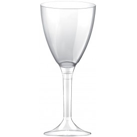 Plastic Stemmed Glass Wine Clear Removable Stem 180ml (200 Units)