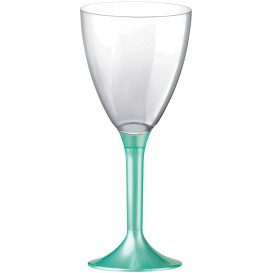 Plastic Stemmed Glass Wine Tiffany Pearl Removable Stem 180ml (200 Units)