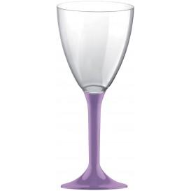 Plastic Stemmed Glass Wine Lilac Removable Stem 180ml (40 Units)