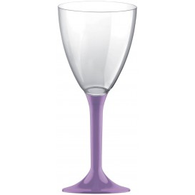 Plastic Stemmed Glass Wine Lilac Removable Stem 180ml (200 Units)