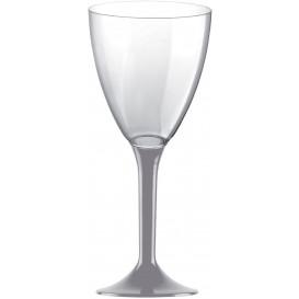 Plastic Stemmed Glass Wine Grey Removable Stem 180ml (40 Units)
