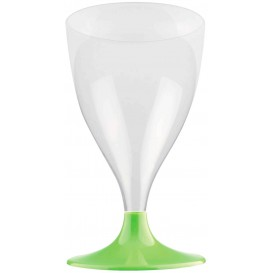 Plastic Stemmed Glass Wine Lime Green 200ml 2P (400 Units)