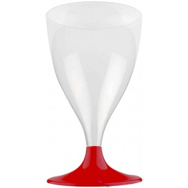 Plastic Stemmed Glass Wine Burgundy 200ml 2P (20 Units)