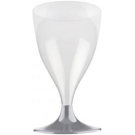 Plastic Stemmed Glass Wine Grey 200ml 2P (20 Units)