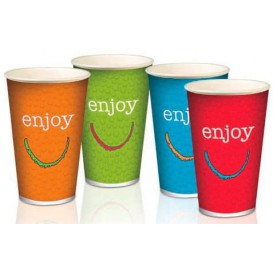 "Paper Cup ""Enjoy"" 12 Oz/360 ml Ø8,0cm (2000 Units)"