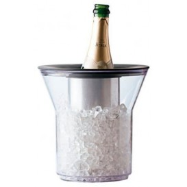 Plastic Ice Bucket for 1 Bottle Clear PCTA (1 Unit)