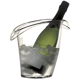 Plastic Ice Bucket for 1 Bottle Clear SAN (1 Unit)