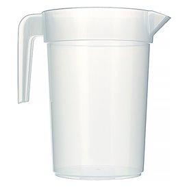 Plastic Jar PP Injection Moulding Translucent 1.000 ml (10 Units)