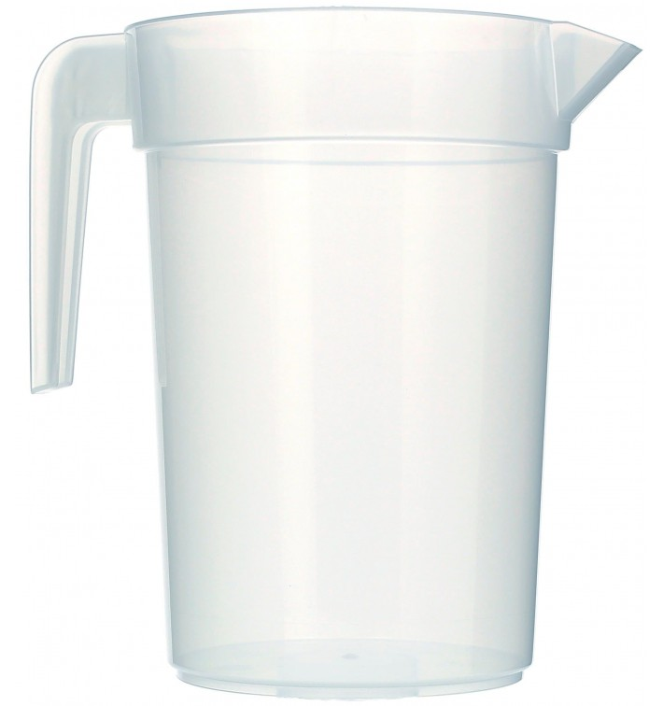 Plastic Jar PP Injection Moulding Translucent 1.000 ml (120 Units)