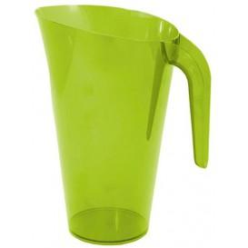 Plastic Jar PS Reusable Green 1.500 ml (20 Units)