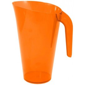 Plastic Jar PS Reusable Orange 1.500 ml (20 Units)