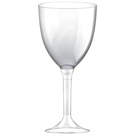 Plastic Stemmed Glass Wine Clear Removable Stem 300ml (40 Units)