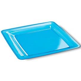 Plastic Plate Square shape Extra Rigid Turquoise 22,5x22,5cm (72 Units)