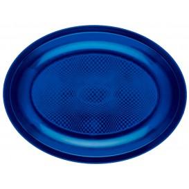 "Plastic Platter Microwavable Oval Shape Blue ""Round"" 25,5x19 cm (600 Units)"