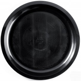 "Plastic Plate Black ""Round"" PP Ø29 cm (300 Units)"