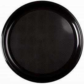 "Plastic Plate for Pizza Black ""Round"" PP Ø35 cm (144 Units)"
