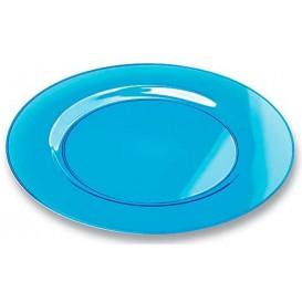 Plastic Plate Round shape Extra Rigid Turquoise 26cm (90 Units)