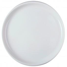 "Plastic Plate for Pizza White ""Round"" PP Ø35 cm (144 Units)"