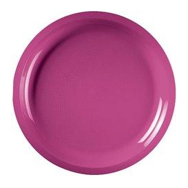 "Plastic Plate Fuchsia ""Round"" PP Ø29 cm (300 Units)"