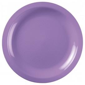 "Plastic Plate Flat Lilac ""Round"" PP Ø22 cm (50 Units)"