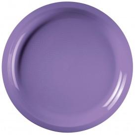 "Plastic Plate Lilac ""Round"" PP Ø29 cm (25 Units)"